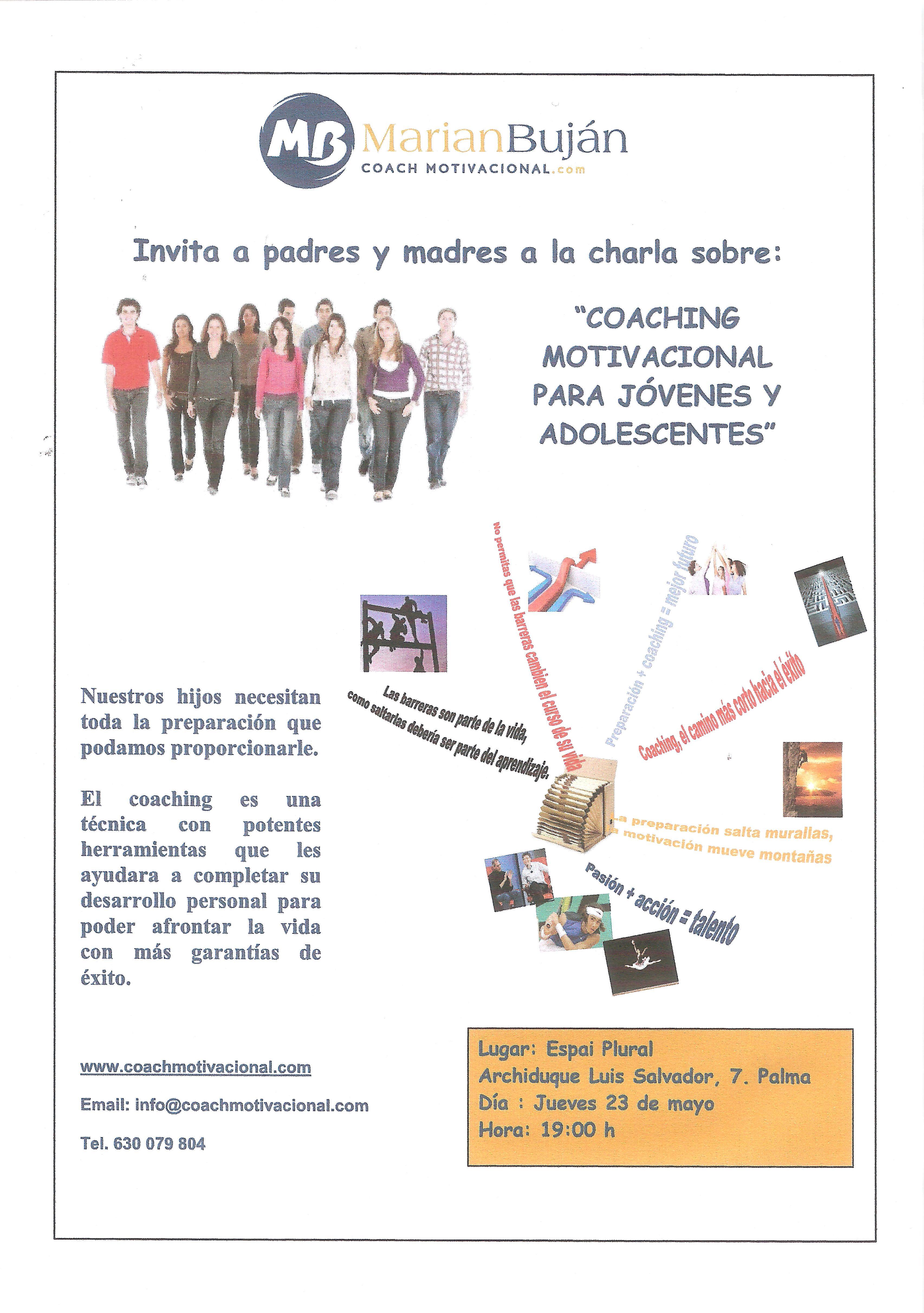 Coaching Motivacional Para Jóvenes Charla Orientada A