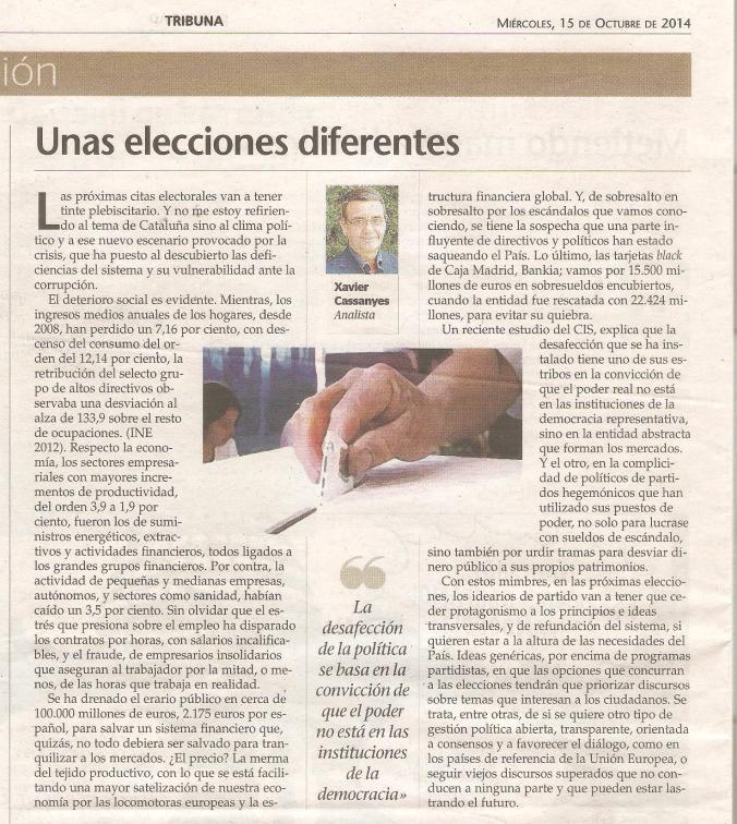 Unas elecciones diferentes