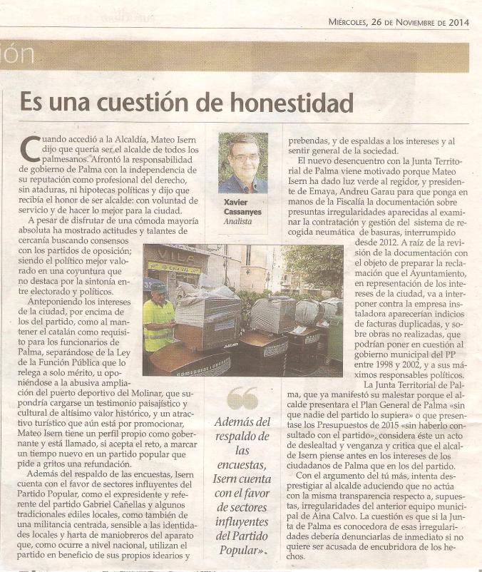 (7) Es una cuestión de honestidad, 26.11.14