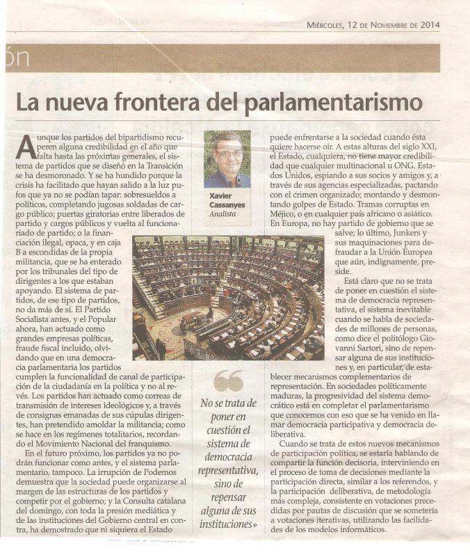 La nueva frontera del parlamentarismo