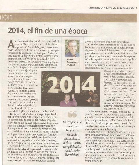 2014, el fin de una época 24.12.14