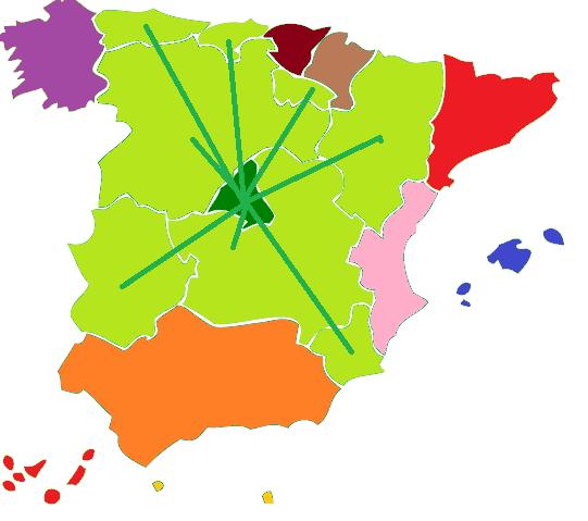 MAPA DE ESPAÑA FEDERAL