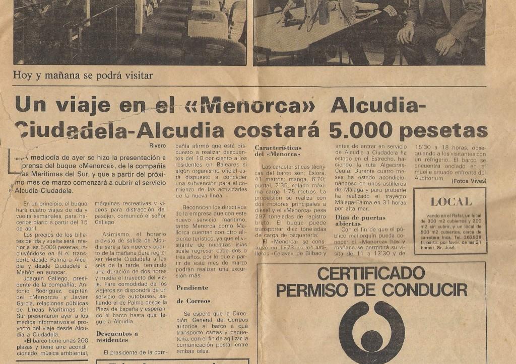 La imagen tiene un atributo ALT vacío; su nombre de archivo es maritimas-del-sur-ferry-menorca-presentacio-2-febrer-1984.jpg
